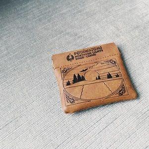 Leather little pocket purse